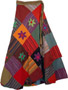 Deep Floral Wrap Around Fashion Skirt