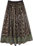 Midnight Black Sequin Party Skirt