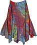 Buoyant Colorful Bohemian Fringed Skirt