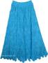 Picton Blue Long Skirt All Crochet Pattern
