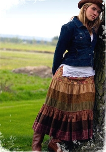Bohemian Brown Long Skirt
