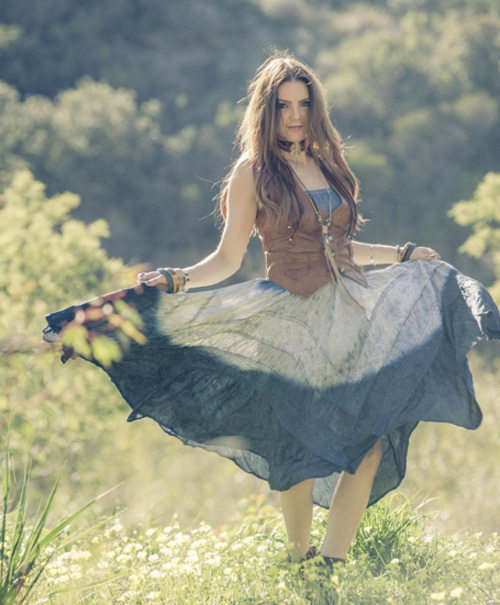 Boho Peasant Chic Dress