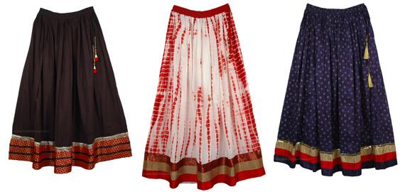 Long Big Border Classy Skirts