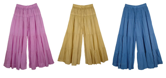 Split Skirts - Cross Between Skirts and Pants - Culottes, Gauchos or Palazzo
