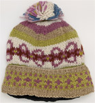 Pure Wool Hand Knitted Olive Dust Hat