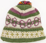 Military Green Pure Wool Hand Knitted in Nepal Hat