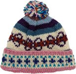 Outdoors Hand Knit Butterfly Wool Hat