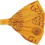 Yellow Exercise Om Cotton Headband