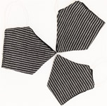 Black and White Stripes Cotton Face Mask
