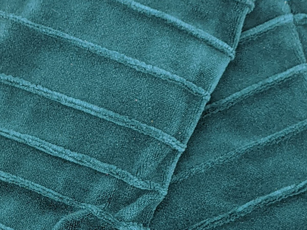Plain Teal Velvet Reversible Arm Warmers