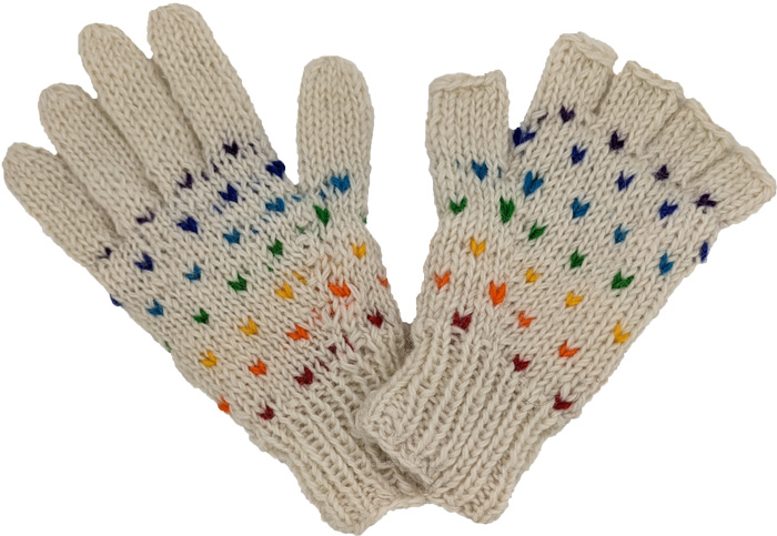 Color Sprinkles Woolen Phone Gloves