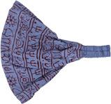 Tribal Hippie Cotton Headband in Shady Blue