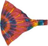 Pink Blast Hippie Tie Dye Cotton Headband
