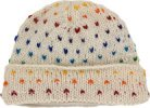 White Wool Hat with Colorful Sprinkles