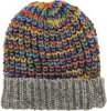Multicolor Rainbow Scallops Unisex Wool Winter Hat