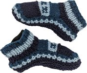 Cold Blues Woolen Winter Socks