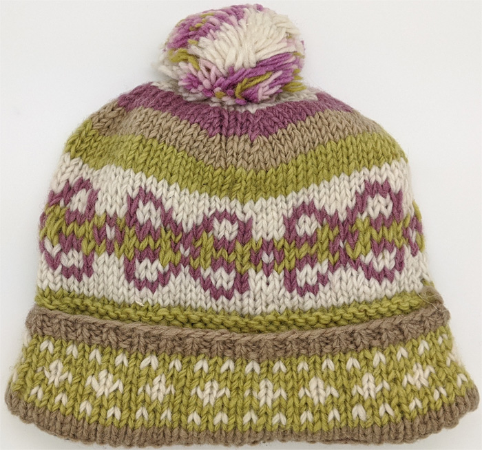 Hand Knit Pure Wool Suave Colors Hat