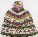 Hand Knitted Woolen Muted Colors Ski Hat
