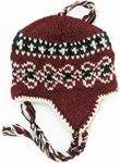 Buccaneer Dark Red Fleece Lined Wool Hand Knit Hat