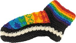 Rainbow Woolen Cozy Winter Bed Socks