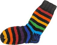 Rainbow Woolen Heavy Pull Up Socks