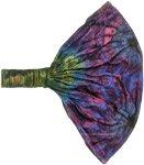 Blue Nebula Hippie Tie Dye Headband