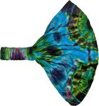 Blue Himalayan Poppies Tie Dye Headband