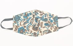 Blush Blue and Brown Designer Face Cover
