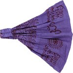 Purple Hippie Om Cotton Headband