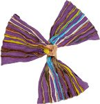 Purple Razor Cut Gypsy Cotton Headband