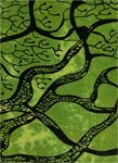 Handmade Green Tree Tapestry Full