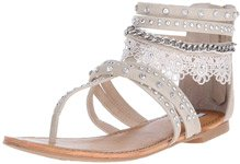 Willow Cream Boho Gladiator Flat Sandal