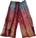 Red Boho Razor Tie Dye Redux Cotton Legwarmer