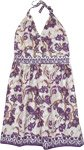 Morning Glory Lilac Floral Chic Kitchen Apron