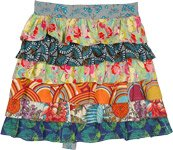 Chic and Stylish Tropical Ruffled Half Apron