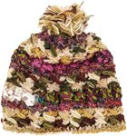 Winter Cake Woven Woolen Silk interwoven Hat