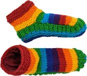 Rainbow Colored Wool Sock Booties Cuties