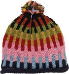 Unisex Hand Knit Wool Hat with Pompom