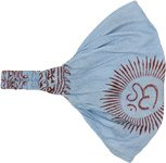 Sky Blue Om Bohemian Cotton Head Band