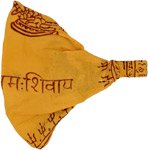 Chant Om Cotton Headband in Saffron Color