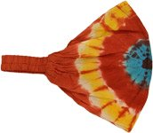 Solar Flare Tie Dye Hippie Cotton Headband