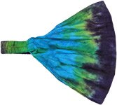 Tranquil Blue Tie Dye Hippie Cotton Headband