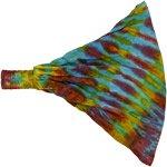 Multicolored Hippie Hues Tie Dye Cotton Headband