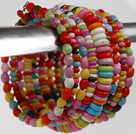 Rainbow String Bangle, Charming Fashion String Beads Bracelet