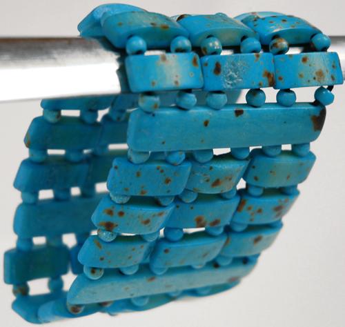 Sky Tribal Beads Bracelet, Blue Gypsy Ladder Bracelet