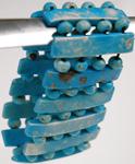 Blue Tribal Beads Bracelet [2735]