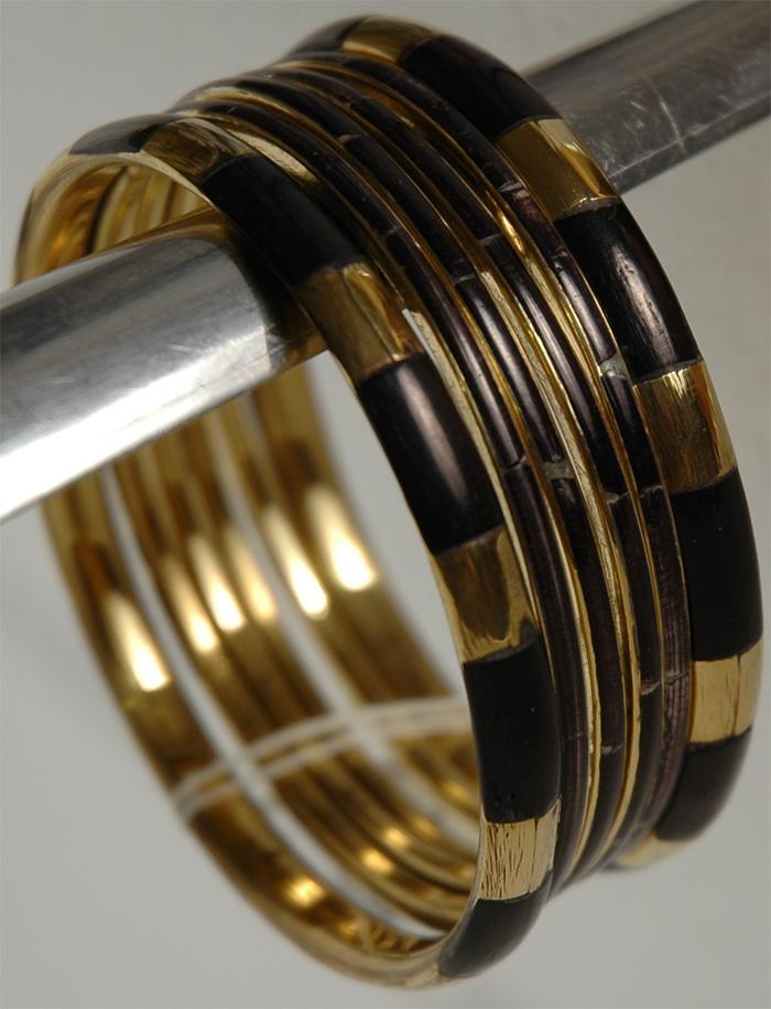 Golden Brown Hand Bracelet, Dark Gold Bohemian Bracelet
