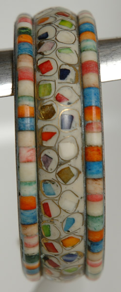 White Mosaic Colorful Bracelet