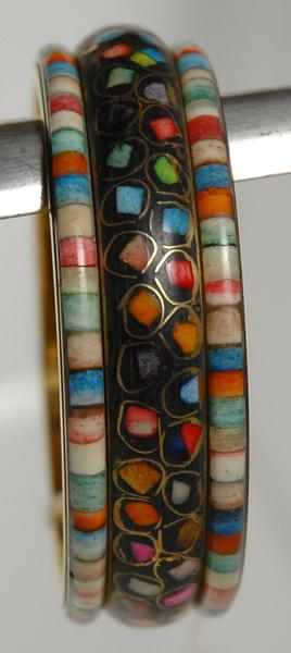 Mosaic Colorful Black Bracelet