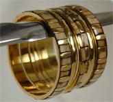 Golden Cream Hand Bracelet [3497]